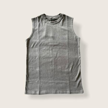 Asatre Hemp and Organic Cotton Sleeveless Tank Top - Gray