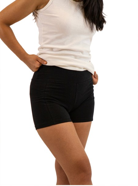 Asatre Hemp Yoga Active Shorts - Black