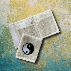 Yin Yang Hemp Bi-fold Wallet