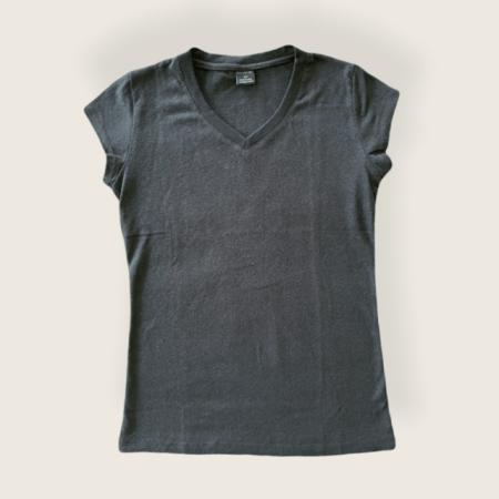 Hemp and Organic Cotton V-Neck Shirt - Black