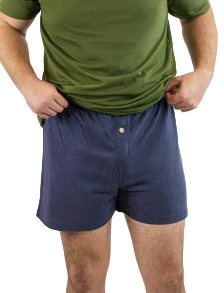Hemp and Organic Cotton Boxers - Navy