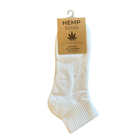 Hemp and Organic Cotton White Socks