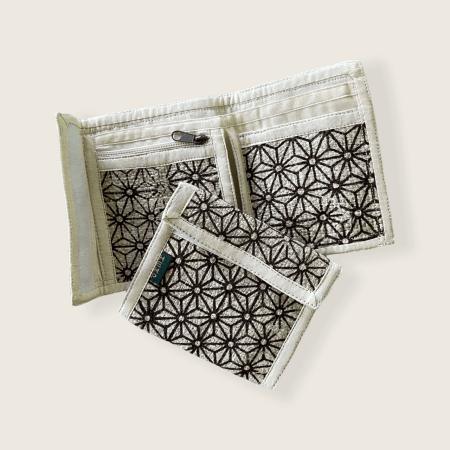 Hemp Bi-fold Wallet - Flower Print