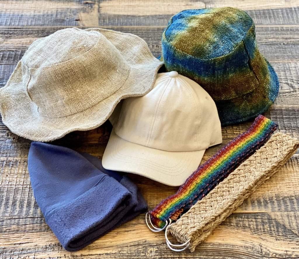 Hemp Belts & Hats