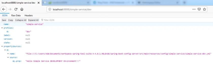 configuration server profile dev