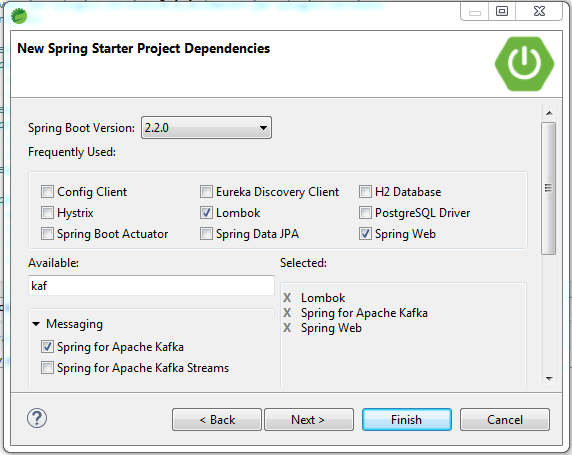 kafka dependencies