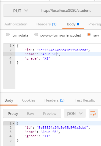Spring Boot MongoDB CRUD example