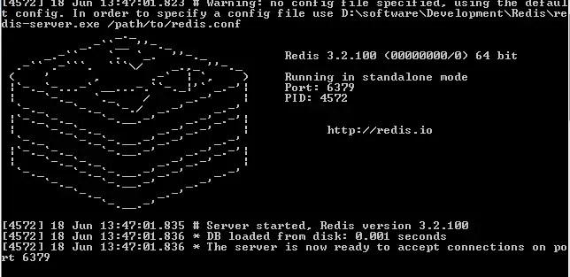 start redis server on windows.