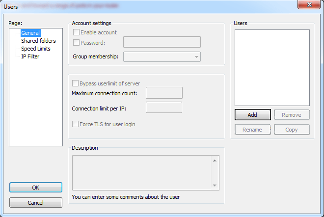 Creating FTP user.