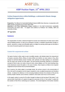 Carbon Sequestration within Buildings