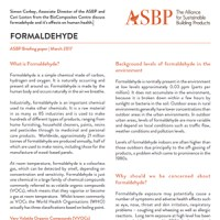 Formaldehyde - What is it? and how does it affect human health?