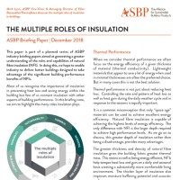 The Multiple Roles of Insulation