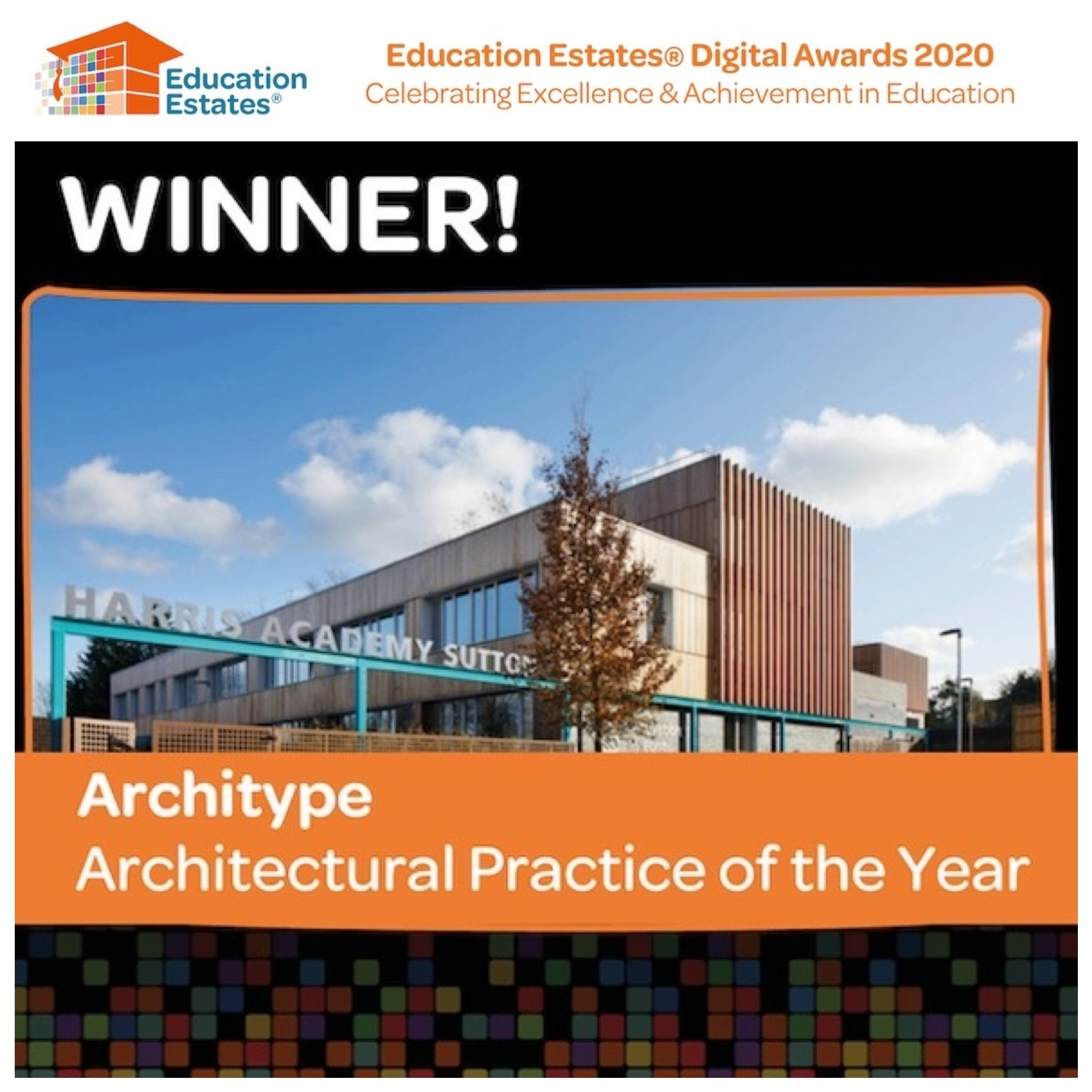 Architype voted Architectural Practice of the Year by Education Estates