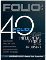 Folio: 40 issue cover