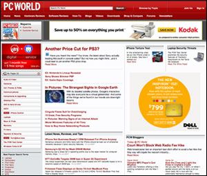 Image: PC World home page