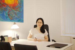 Foto de una psicóloga en su despacho del barrio de Salamanca, en Madrid