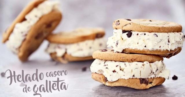 Helado de galletas de chocolate