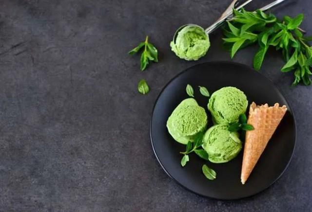Helado de brocoli (Vegano)