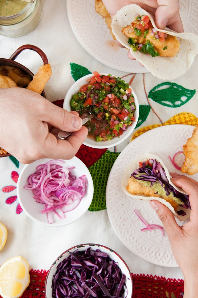 Tacos de pescado tipo Ensenada