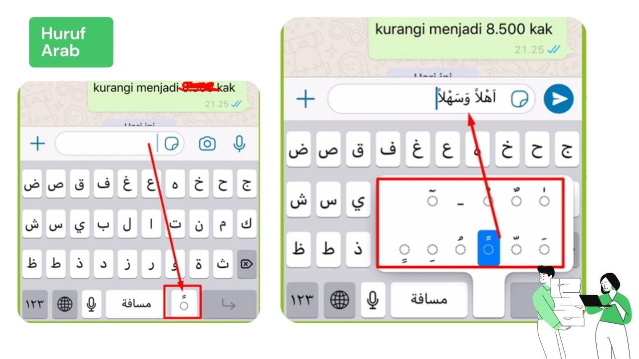 Cara Menulis Huruf Arab Berharakat di Android