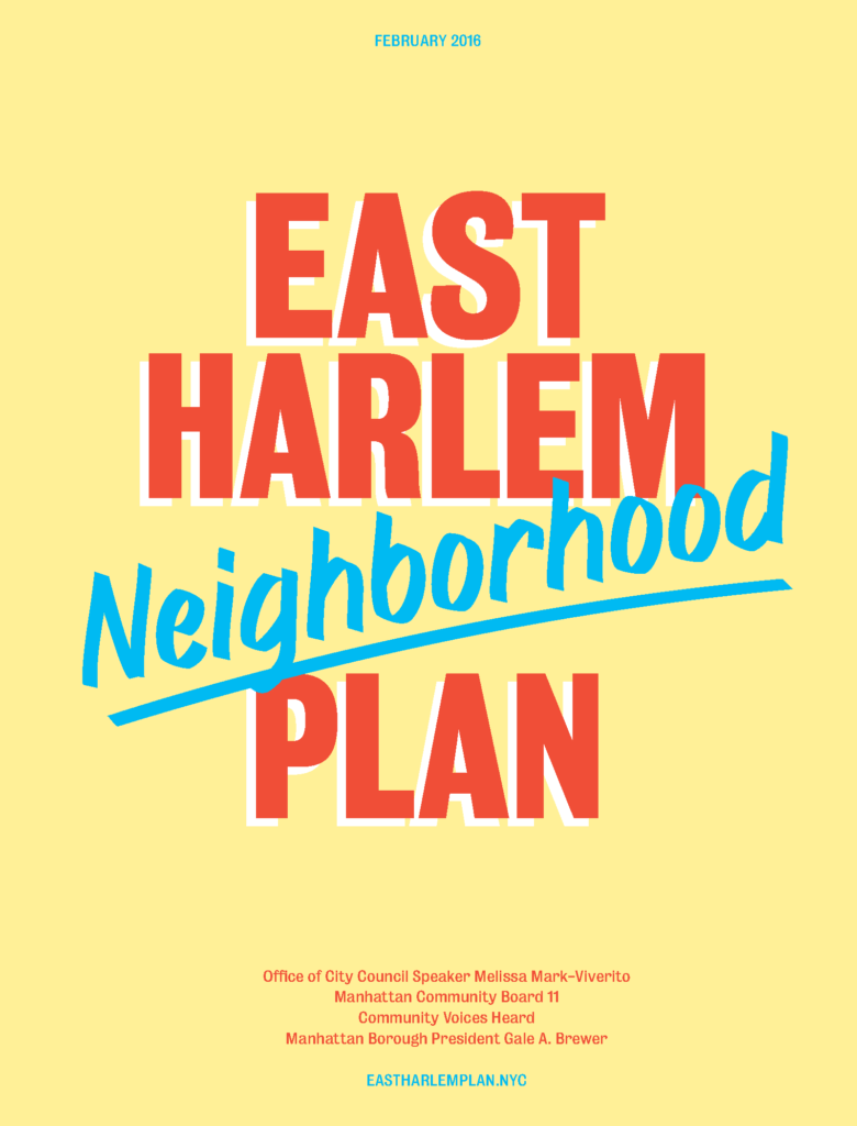 East Harlem Neighborhood Plan logo.
