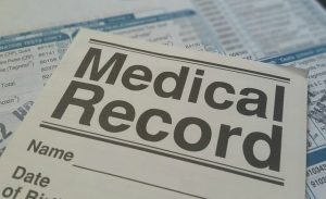 Medical diagnosis on script pad