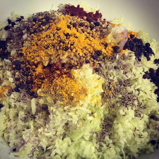 Sauerkraut and spices