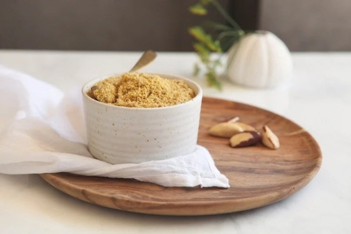 Raw Vegan Parmesan made with Brazil Nuts
