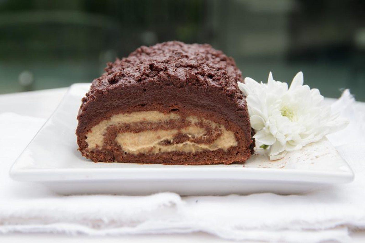 Raw Chocolate Log