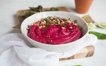 Radical Roasted Beet Hummus with Sumac and Lime