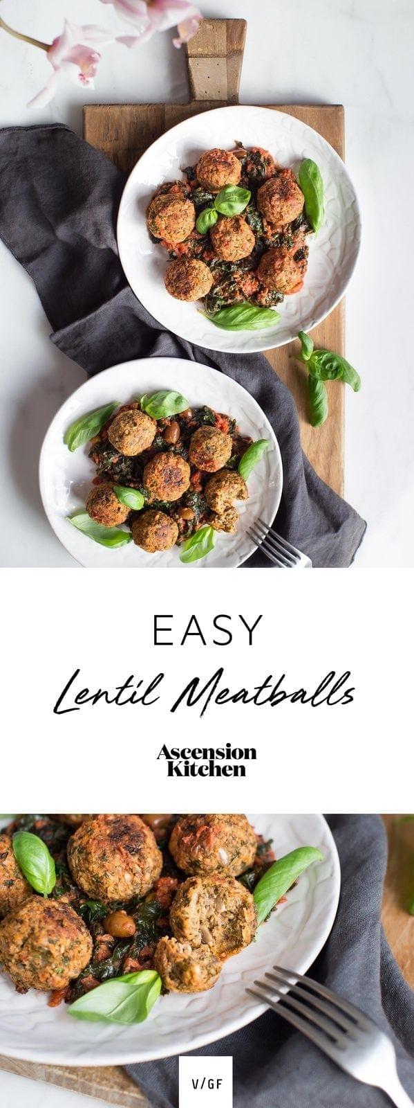 Easy Lentil Meatballs.