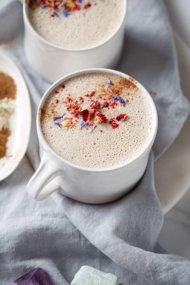 Mug of herbal tea ready to be enjoyed