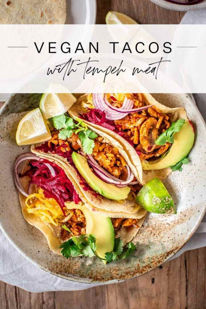 Vegan tacos filled with the most versatile tempeh 'meat' - protein rich, nut free, and absolutely delicious. #vegantacos #tempeh #tempehideas #tacos #tacorecipes #tacomeat #vegantacomeat #AscensionKitchen