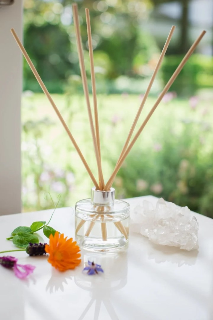DIY Reed Diffuser by the window