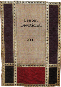 Lenten Devotional 2011
