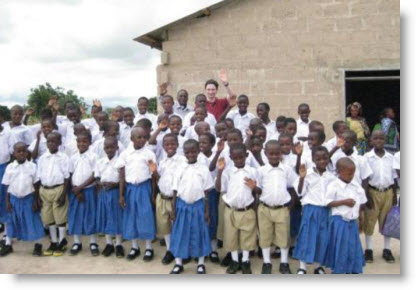 Ethan with the Carpenter's Kids in Gawaye