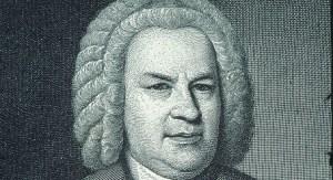 Portrait of Johann Sebastian Bach (1685-1750), German composer. Engraving.