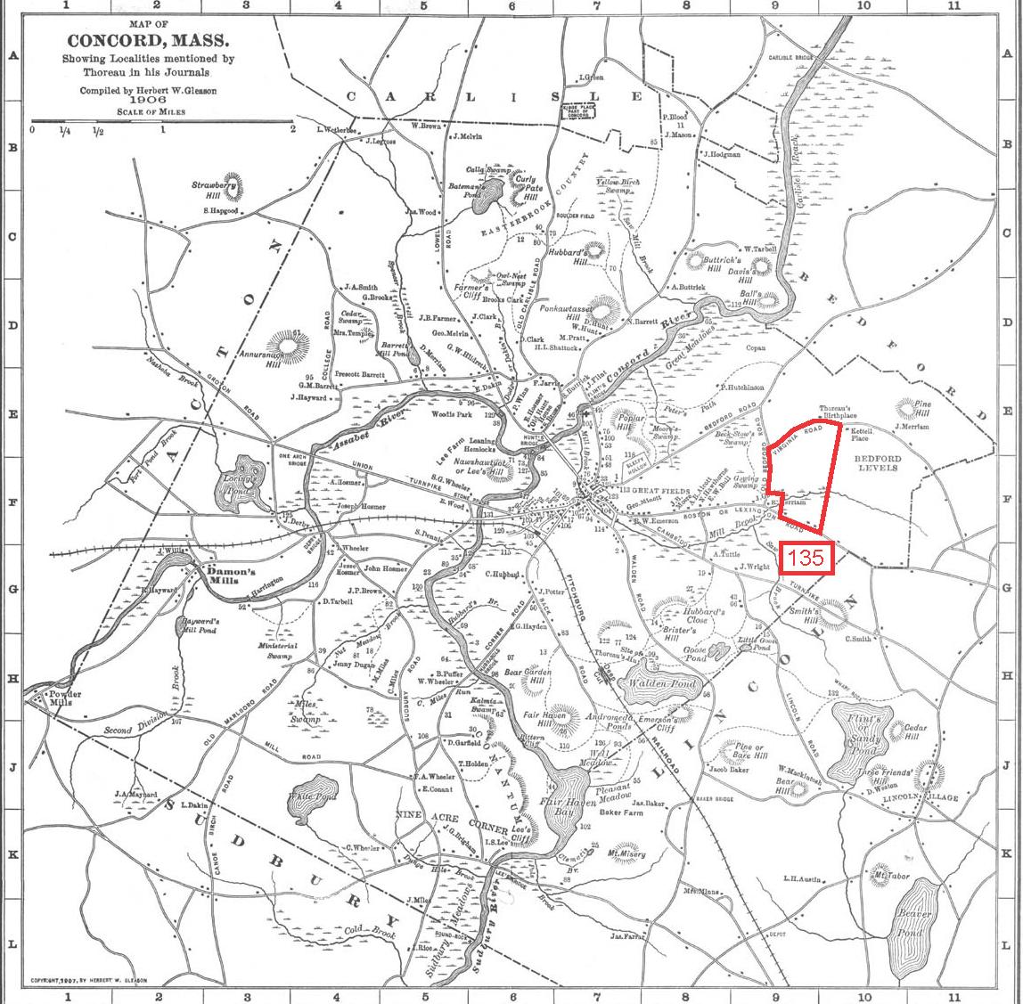 Thoreau S Land Survey Quarter Acre Miscalculation