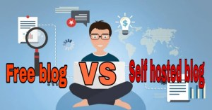 Free blog vs self hosted blog