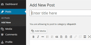 How to create my first contents in WordPress