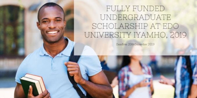 Fully Funded Undergraduate Scholarship at Edo University Iyamho