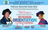 RSUST Orientation Programme for (2019/2020)