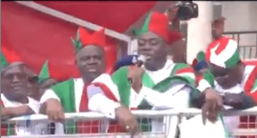 Video of Governor Seyi Makinde mocking coronavirus at a PDP rally days ago surfaces after he tested positive for the virus (video) 1
