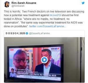 (VIDEO) French Doctors say potential new treatment for Coronavirus should be tested in Africa (video) 1