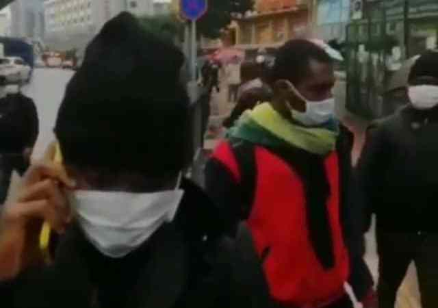 (video) Stranded Nigerians roam the streets of China after they were sent out of their hotels by police over Coronavirus fears 1