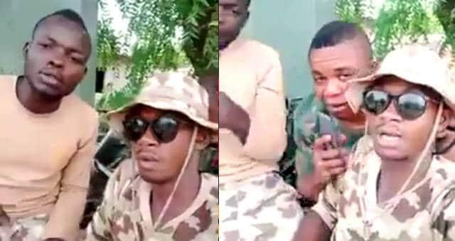 (VIDEO) Again, Nigerian Soldiers threatens Warri people, says' Una don Buy Trouble (video) 1
