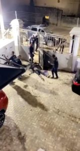 VIDEO: Four armed robbers shot dead by police while robbing in Lekki 2