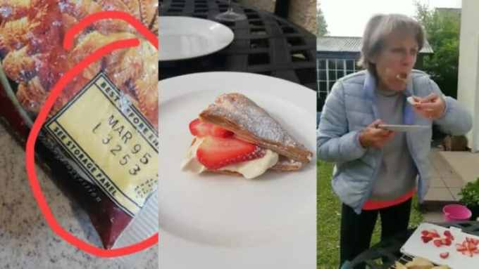 When will this happen in our country? -Nigerians react as American woman digs a snack she preserved in her freezer 25years ago (Photos)