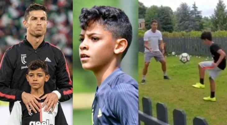 """""""Like father like son"""" – C.Ronaldo shares adorable video training with son"""
