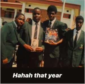 Rare throwback photo of Davido in his secondary school uniform